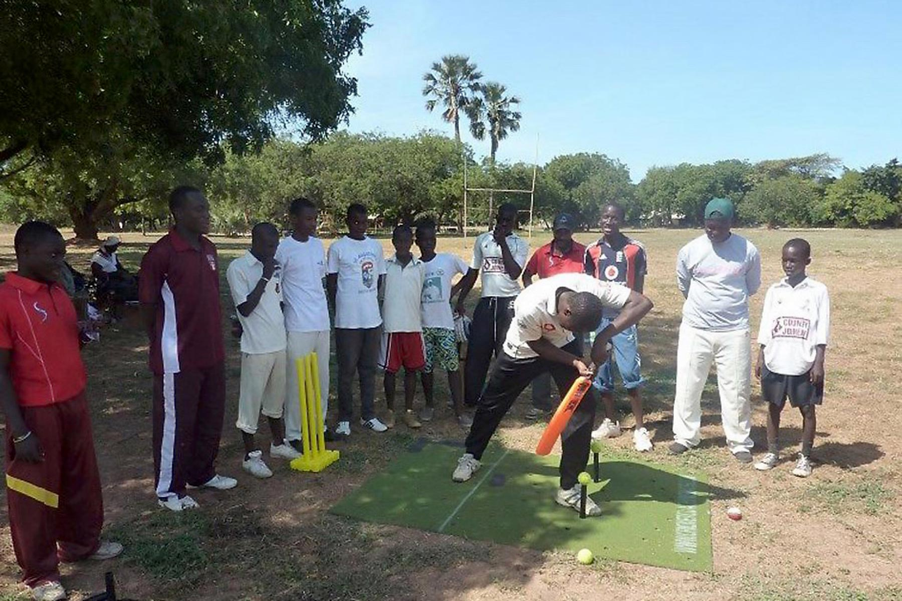 Our Cricket Training Mats go down a storm in The Gambia