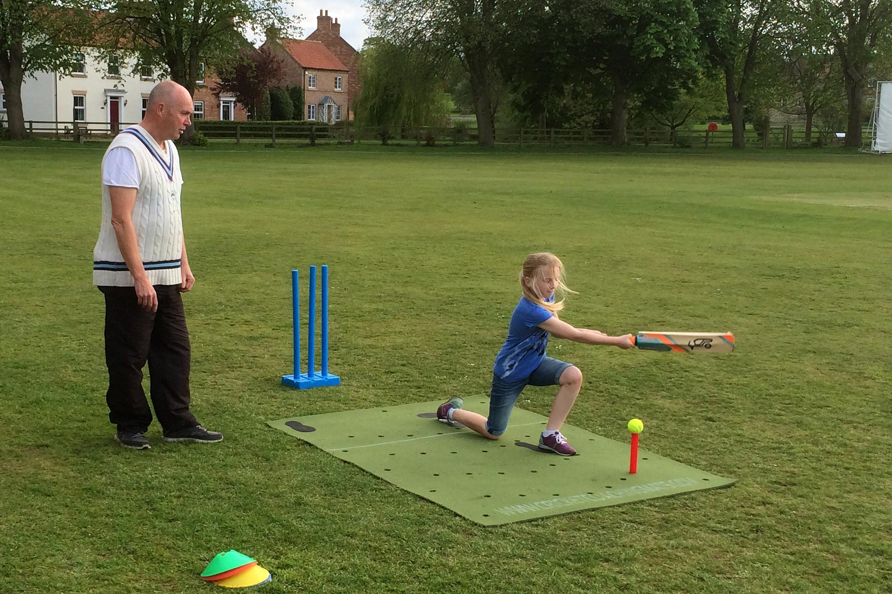 West Yorkshire girls training programme uses our Cricket Coaching Mat