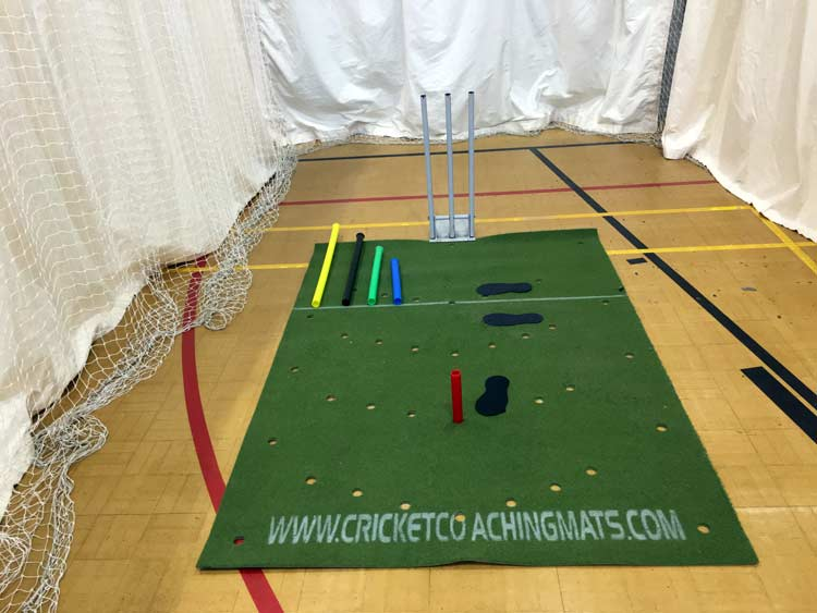 What do you get with the cricket coaching mat