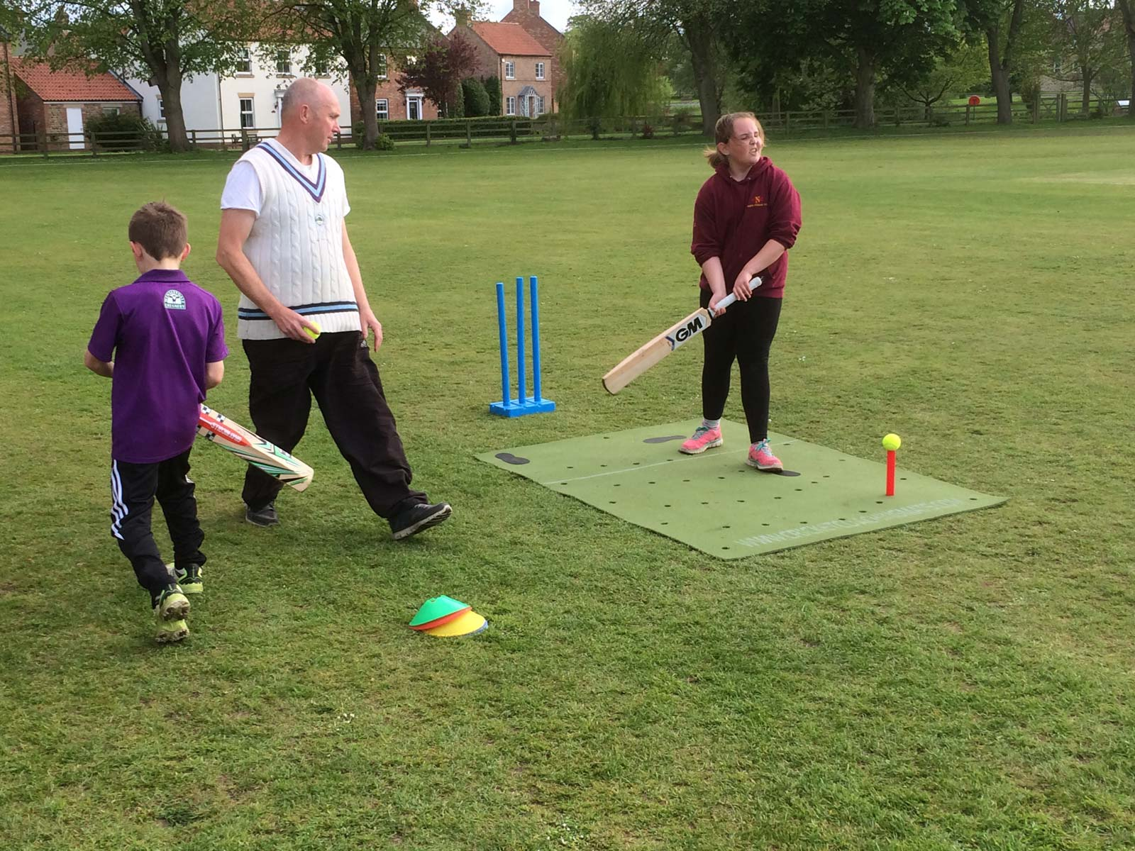 The Cricket Coaching mat is used for the West Yorkshire girls training programme